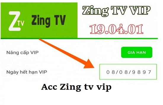 Chia sẻ tài khoản Zing Tv vip, acc Zing Tv vip mới nhất