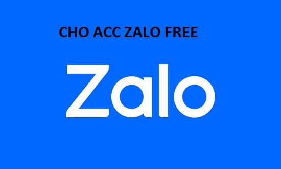 Xin nick Zalo, cho acc Zalo rác update 2021