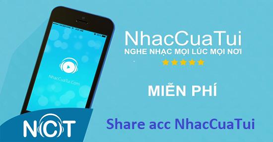 Share acc Nhaccuatui vip, tài khoản Nhaccuatui free 2021