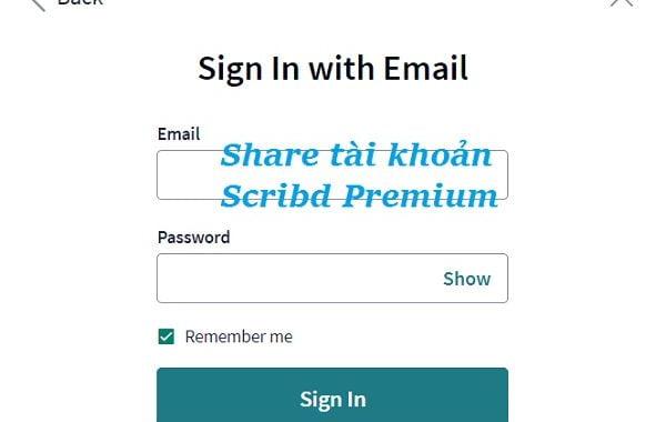 Share tài khoản Scribd Premium miễn phí mới nhất