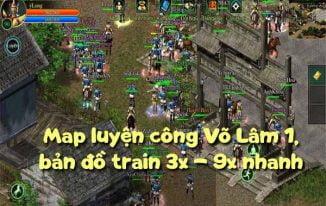 Map luyện công Võ Lâm 1, bản đồ train 3x – 9x nhanh