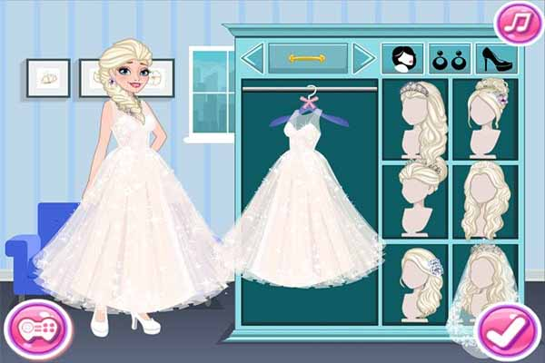 game Váy Cưới Elsa